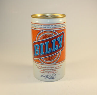 An empty can of Billy Beer, recently offered on Ebay for a whopping $1.50